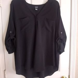 Torrid 3x pull over Georgette tunic